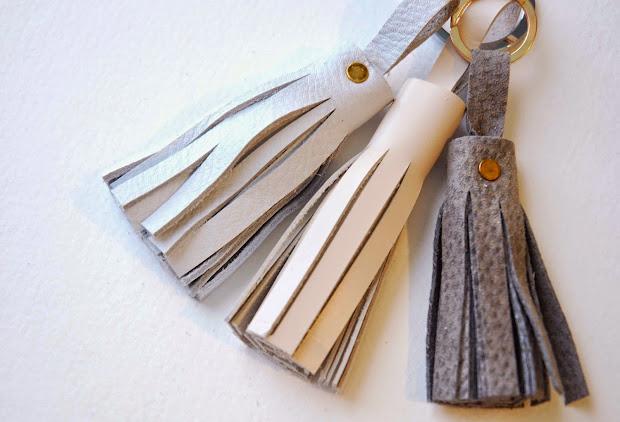 Shayda Campbell Leather Tassel Keychains