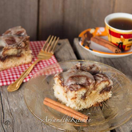 Cinnamon Roll Swirl Cake Art And The Kitchen