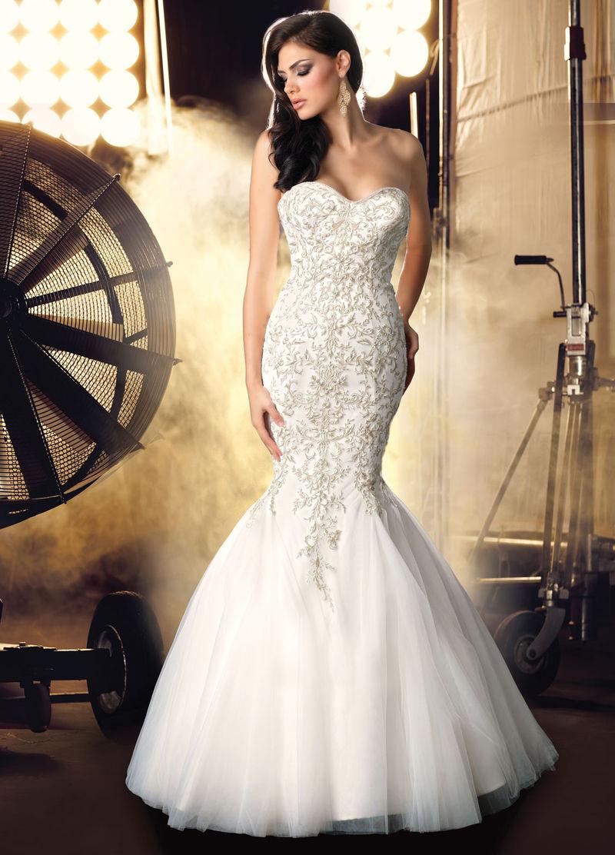 Sweetheart Mermaid Wedding Dresses 2015  5b88526e09