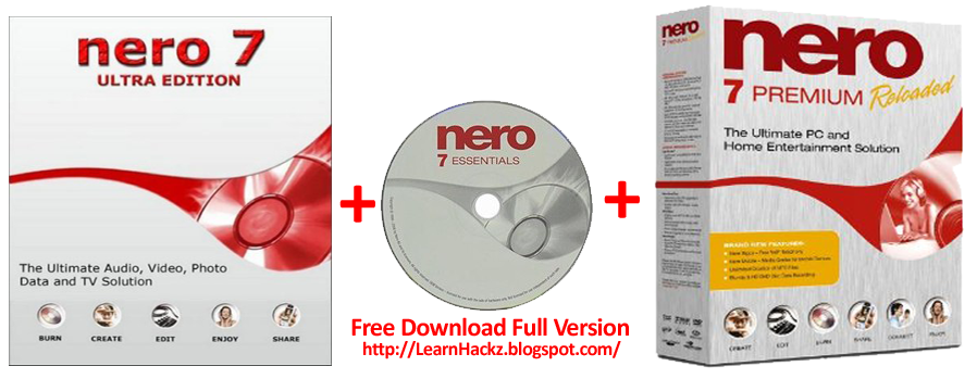 nero 7 free download with key