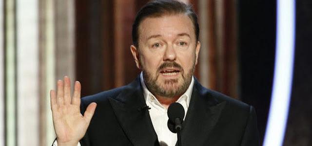 """Ricky Gervais chama Joe Pesci de """"Baby Yoda"""" no Globo de Ouro"""