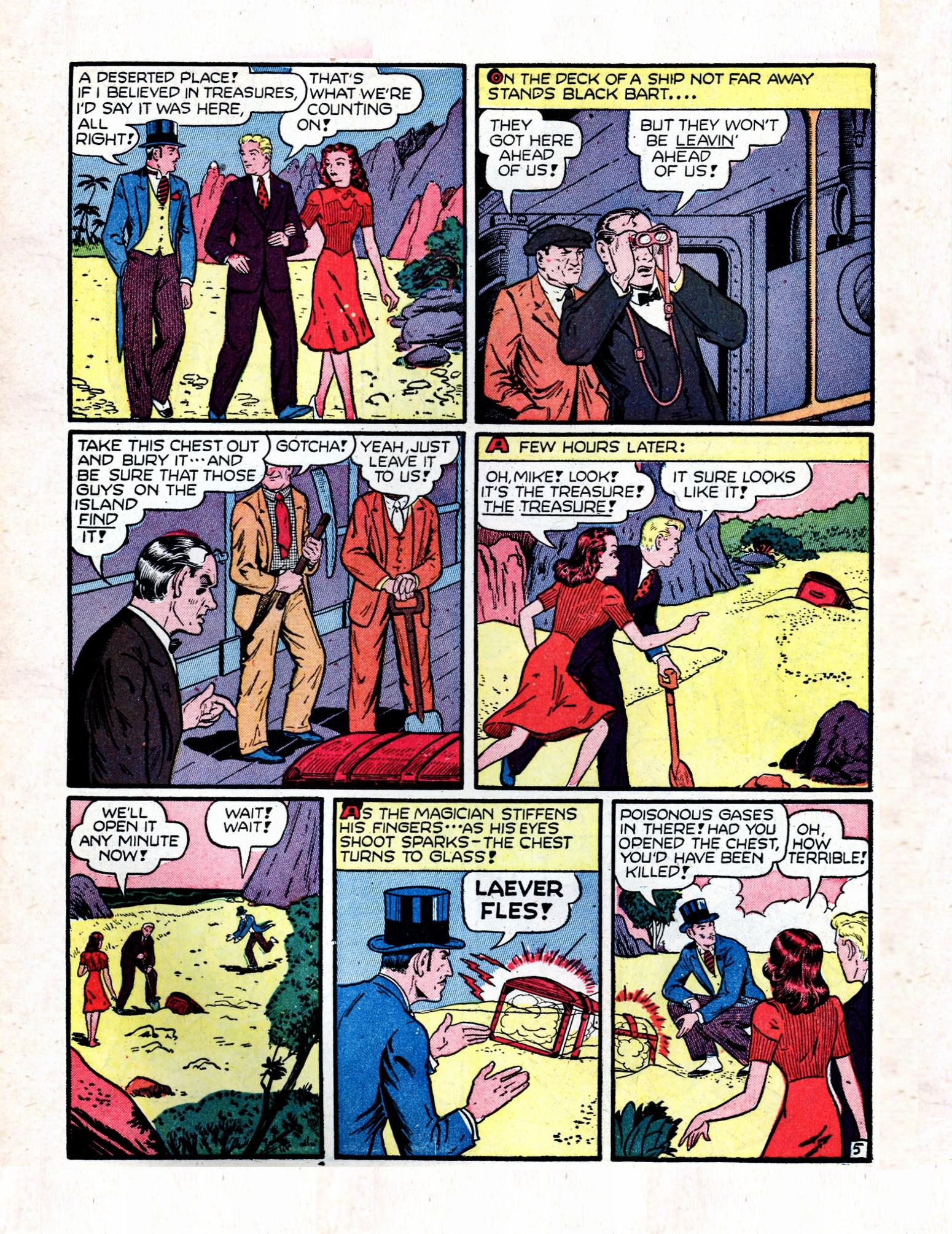 Read online Action Comics (1938) comic -  Issue #57 - 61