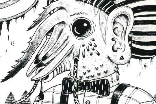 Ilustración, Converse dance de Carlos Dzul