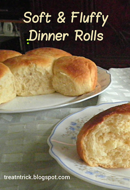 Soft & Fluffy Dinner Rolls Recipe @treatntrick.blogspot.com