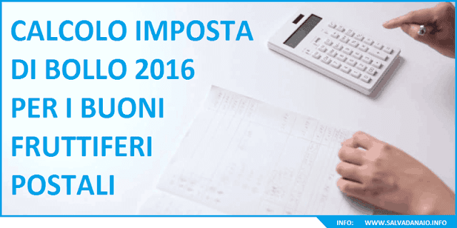 Imposta bollo 2017 sui buoni fruttiferi postali, quant'è?