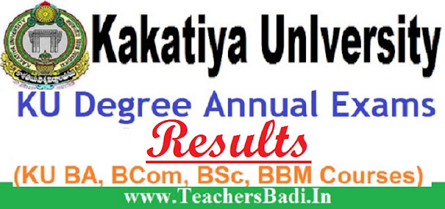 KU,Degree Results,BA/BCom/BSc/BBA Results