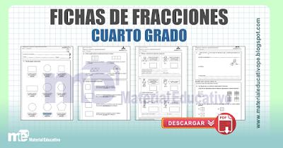 FICHAS DE FRACCIONES PARA CUARTO GRADO PRIMARIA ~ Material Educativo