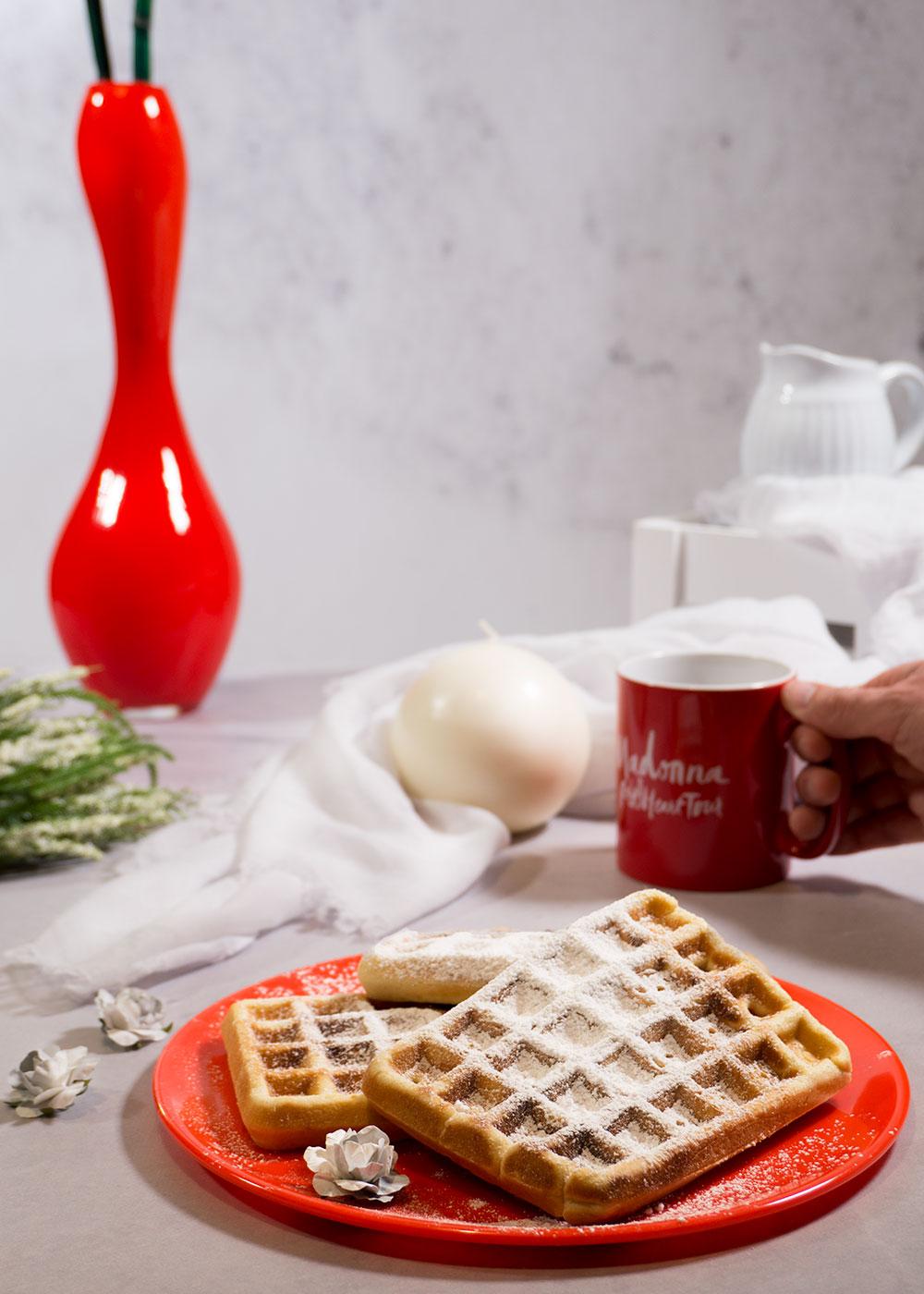 receta postre gofre belga para san valentín cena 14 de febrero