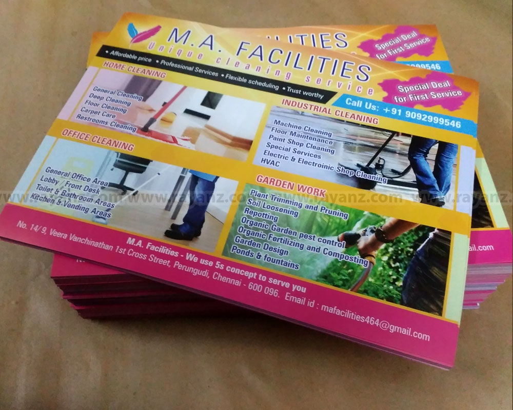 Flyers Printing in Chennai