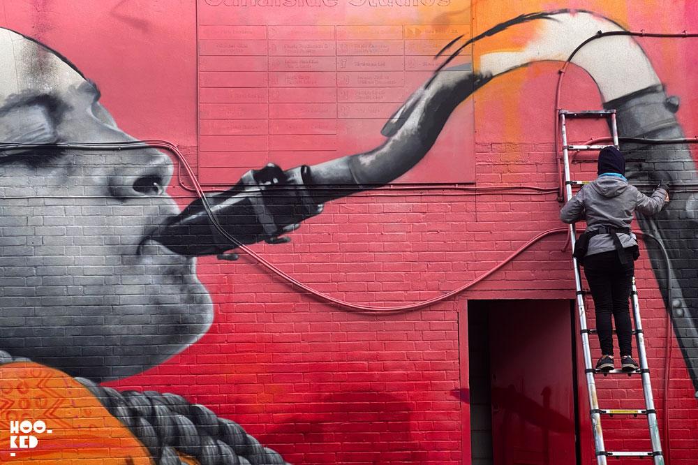 New London mural by French street artist Zabou