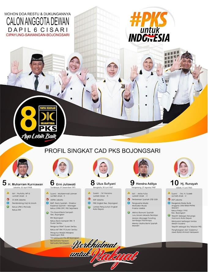 Profil Calon Anggota Dewan PKS Dapil 6 Cipayung Sawangan Bojongsari