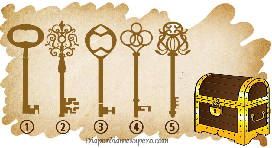 Elige la llave que abrirá el baúl y descubrirás algo de  tu verdadera personalidad