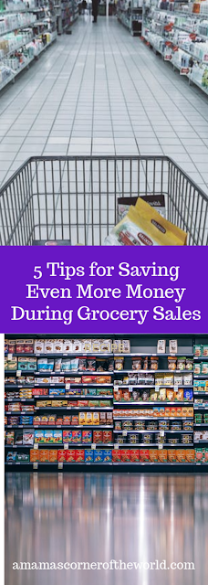 Pinnable image for a blog post about saving more money on grocery store purchases