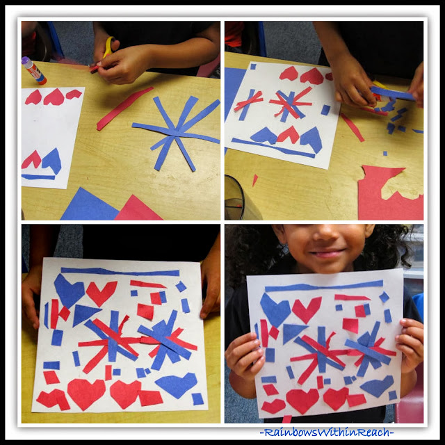 "Artist Residency: Patriotic Response to Picture Book, ""Red, White and Blue"" (Quilt Squares)"