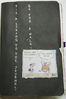 Tie a string to the journal and go for a walk..  but where are you going??