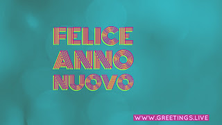 "Light Bluish green Italian Happy New Year greetings "" felice anno nuovo """