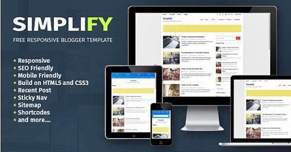 Simplify Responsive and SEO Friendly Blogger Template