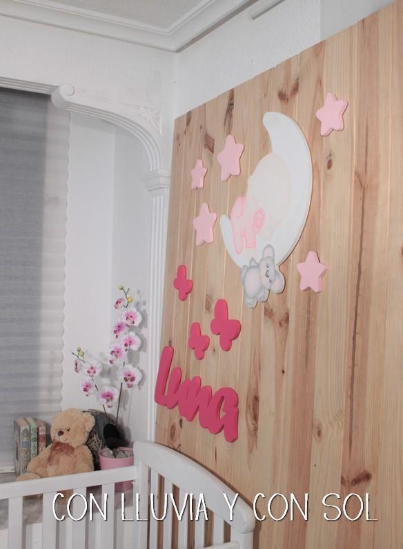 Con lluvia y con sol mural infantil para la habitaci n de for Mural la misma luna