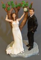 cake topper su commissione scultura sposini per torta milano idee regalo sposi orme magiche