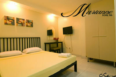 Our room in Marianne Home Inn, Puerto Princesa