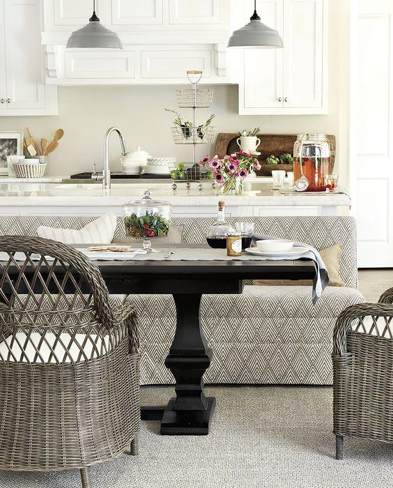 Ballard Design Kitchen Chairs: Kitchen Banquettes