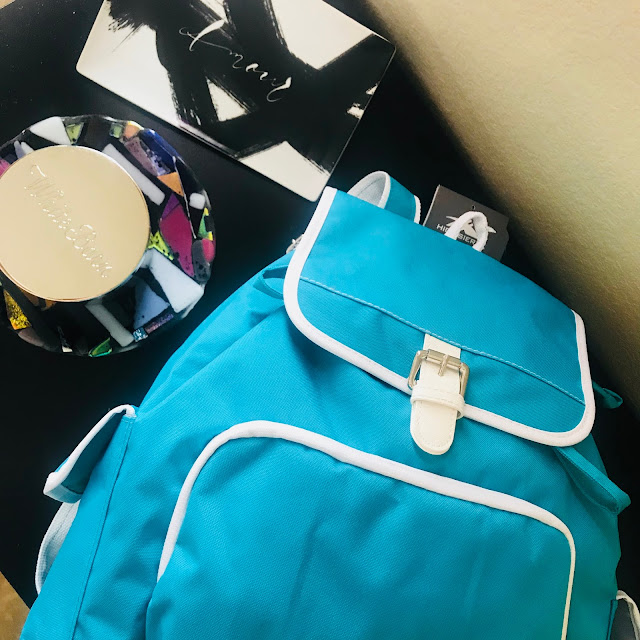 Back to school with the turquoise Elly backpack from high sierra