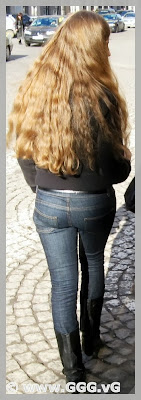 Long-hair girl on the street