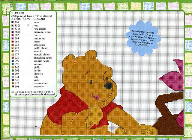 Punto croce winnie the pooh 2 for Winnie the pooh punto croce schemi