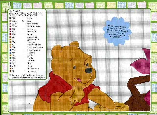 punto croce winnie the pooh 2