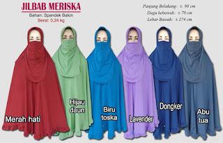 Jilbab cadar model bergo yang cantik dan menawan-meriska