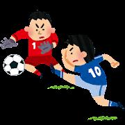 ゴールキックのイラスト(サッカー)