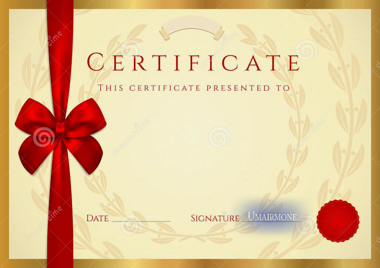 Certificate diploma elegant template vector free download for Design a gift certificate template free