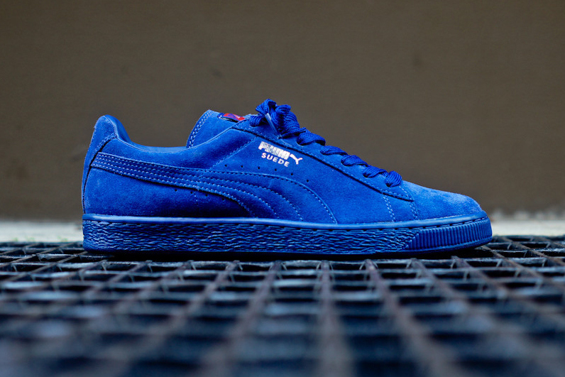 dcabd8912141 New from the PUMA camp comes a special iteration of the brand s Suede  silhouette. Perhaps to embody the end-of-summer blues