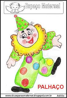 Desenho de palhacinho dia do circo