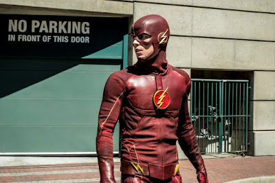 """The Flash -- """"Nora"""" -- Image Number: FLA501b_0031b.jpg -- Pictured: Grant Gustin as The Flash -- Photo: Katie Yu/The CW -- © 2018 The CW Network, LLC. All rights reserved"""