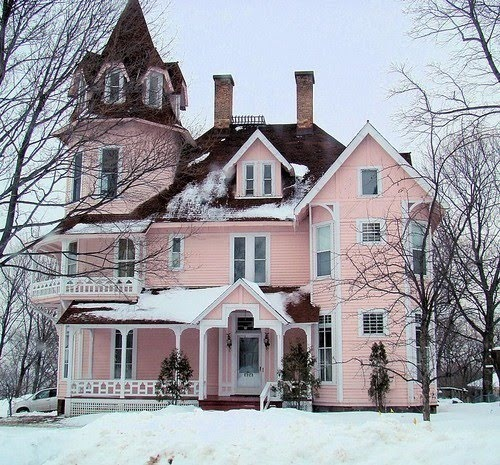 Is A Light Pink House