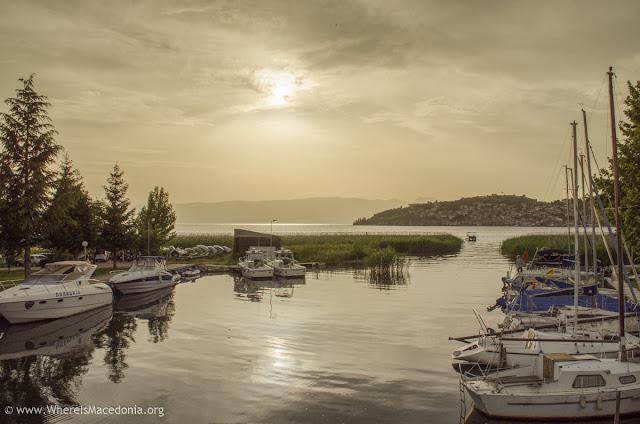 Sunset on Ohrid Lake, Macedonia