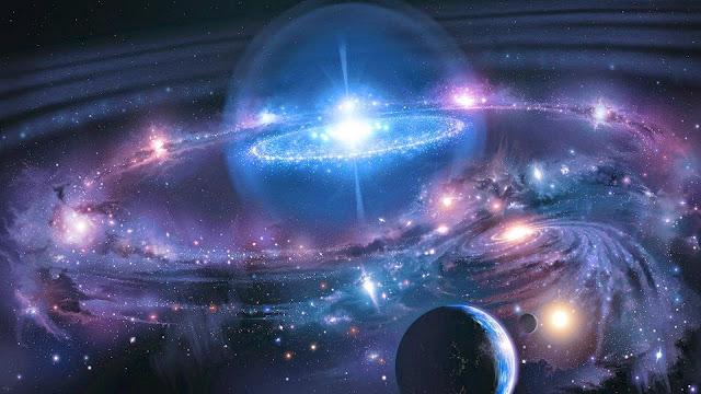 Papel de Parede Ficção Científica Quasar para pc 3d hd grátis SciFi wallpaper free