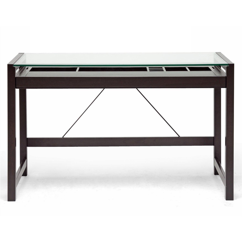 Glass Desk: Black Glass Desk