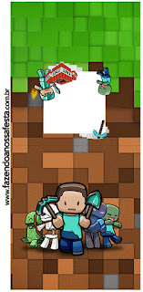 Minecraft: Etiquetas para Candy Bar para Imprimir Gratis.
