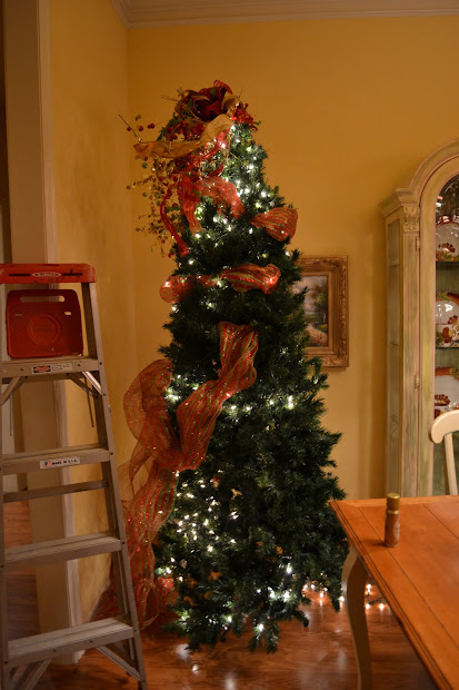 Kristen' Creations Decorating Christmas Tree With Mesh