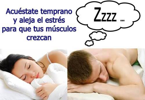 Dormir bien y No trasnochar es clave para aumentar el tamaño de los músculos