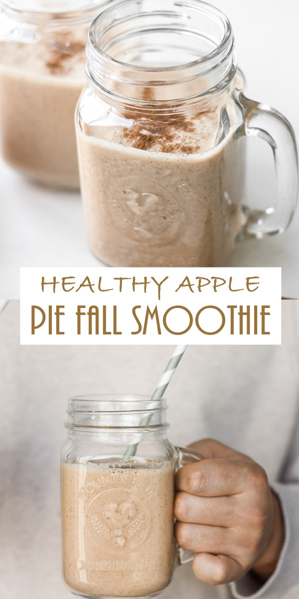HEALTHY APPLE PIE FALL SMOOTHIE #Smoothiesrecipes