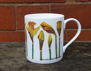 Daffodil Enamel Mug by Alice Draws The Line