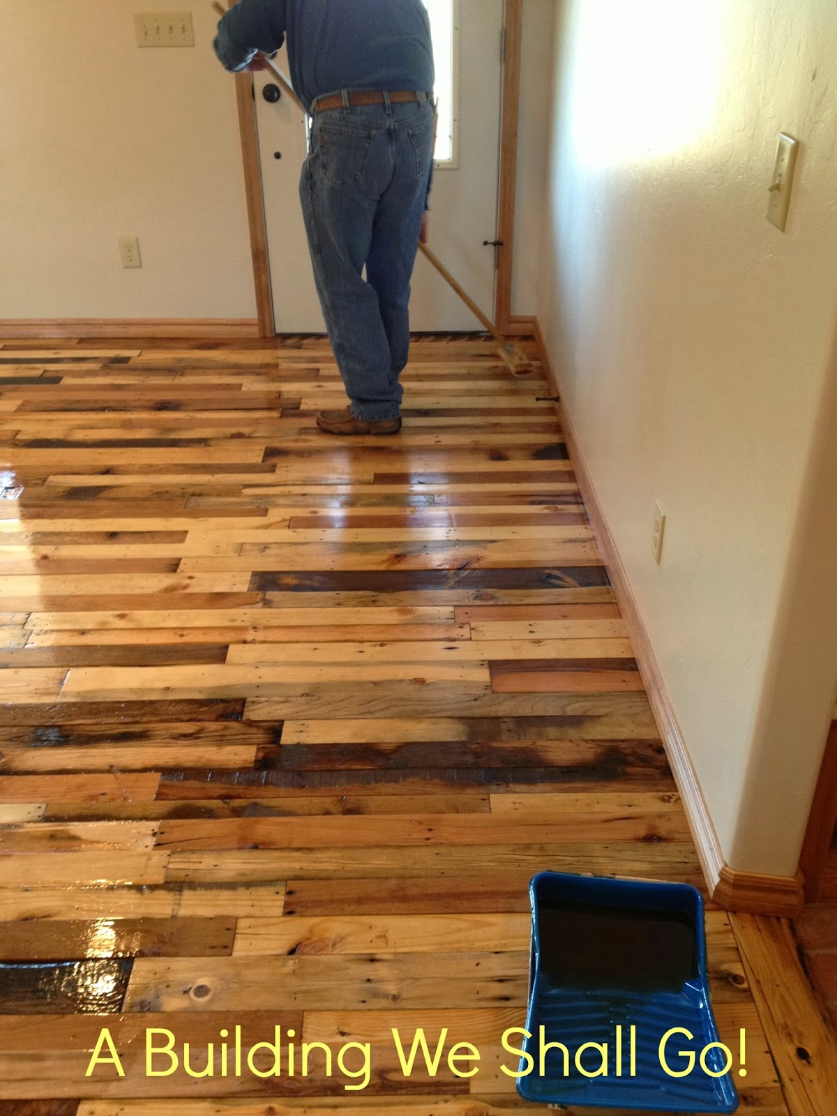 Made With Hardwood Solids With Cherry Veneers And Walnut: A Building We Shall Go!: The Art Of Pallet Wood Flooring