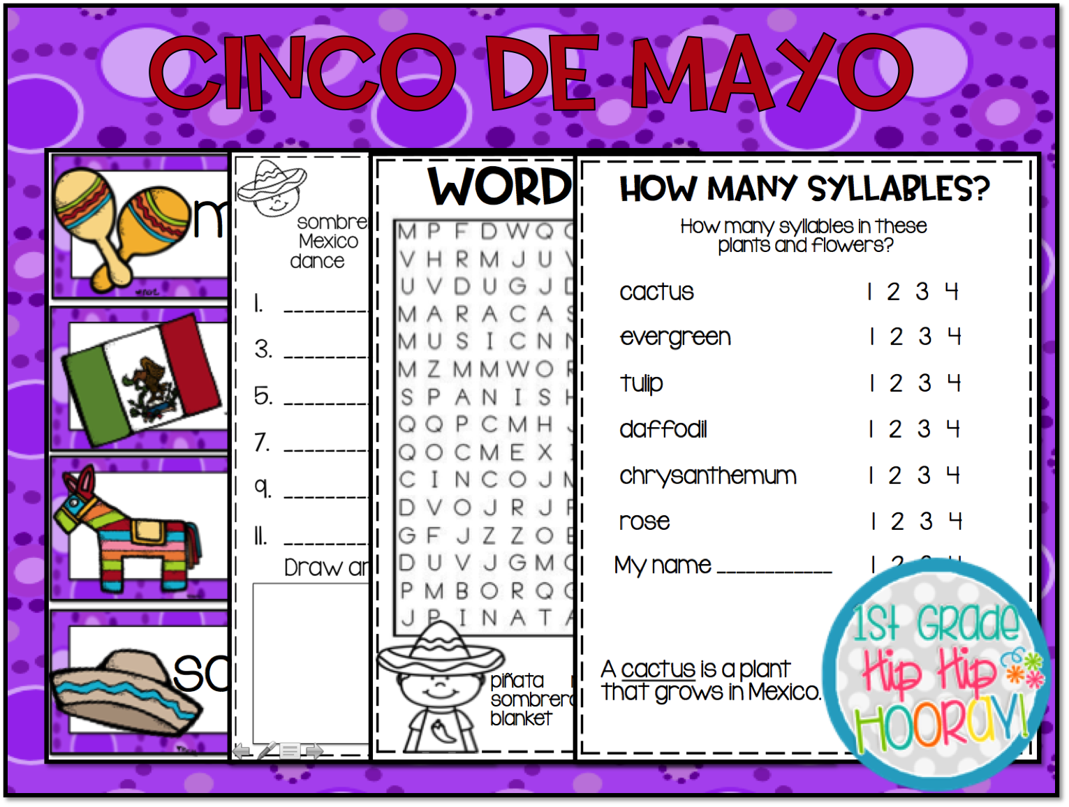 1st Grade Hip Hip Hooray Cinco De Mayo Y 5th