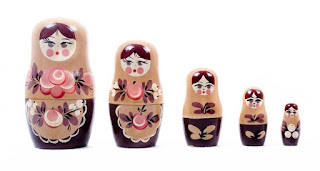 A set of matryoshka dolls
