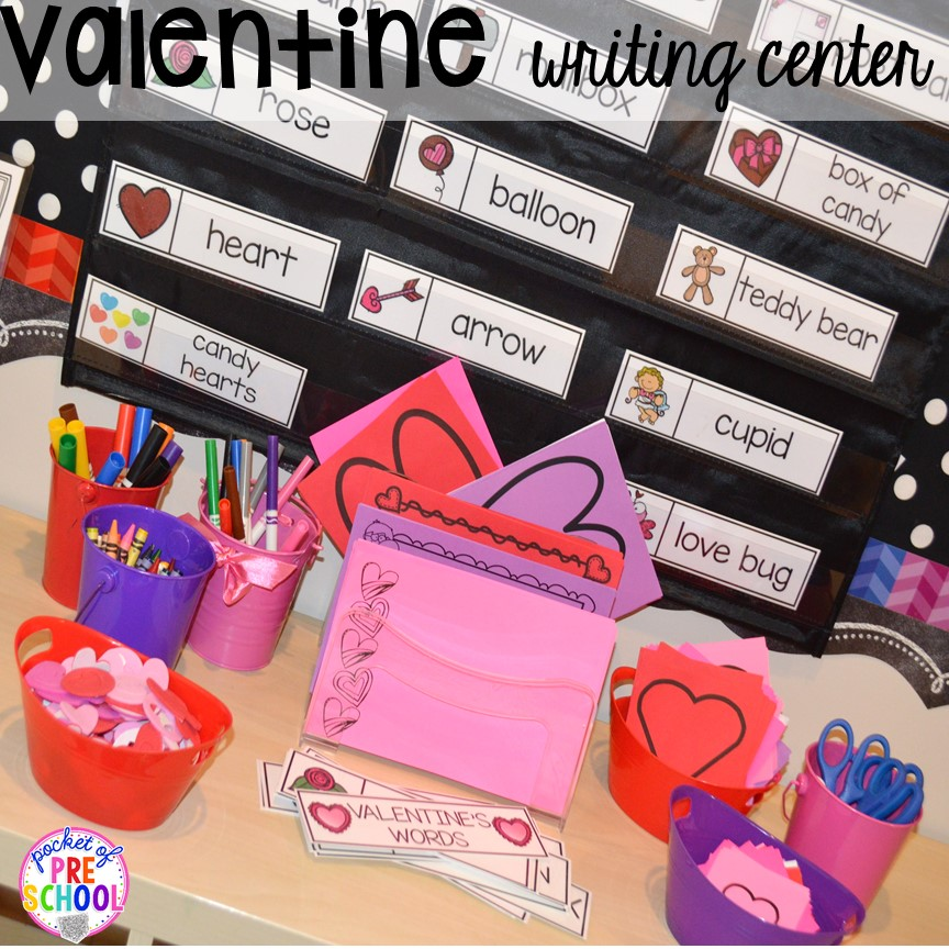 Valentine S Day Themed Centers And Activities Pocket Of Preschool