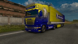 Michelin skin & trailer for Scania RJL