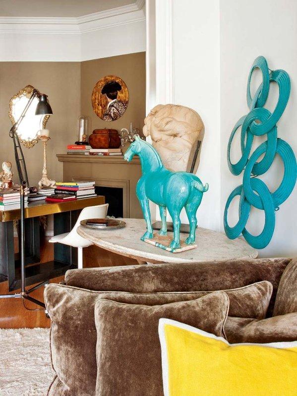 objetos decorativos color azul turquesa chicanddeco